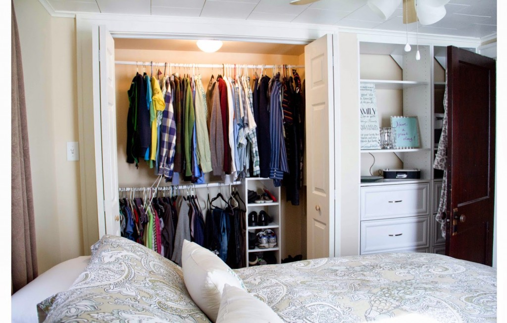 Our prince's room is small and without closet