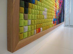Unique fabric wall art