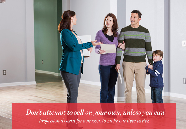 Don't attempt to sell on your own, unless you can
