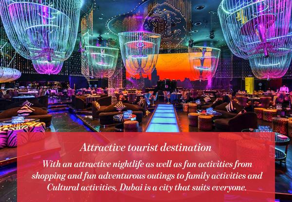 Attractive tourist destination