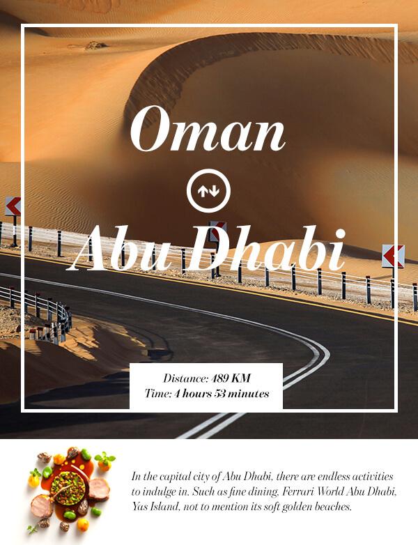 Muscat, Oman to Abu Dhabi, UAE