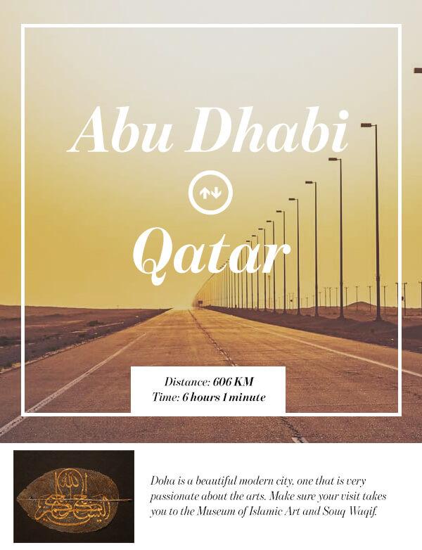 Abu Dhabi, UAE to Doha, Qatar