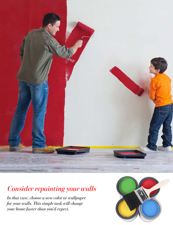 Consider repainting your walls