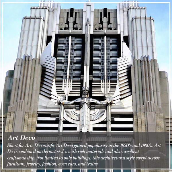 History of architectural styles and their incredible birth for Art deco architecture characteristics