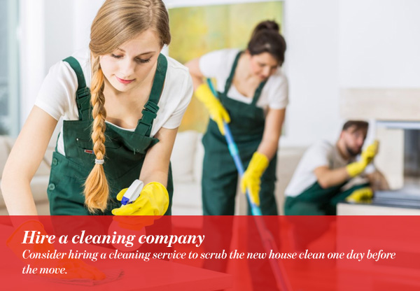 Hire a cleaning company