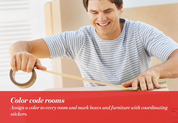 Color code rooms