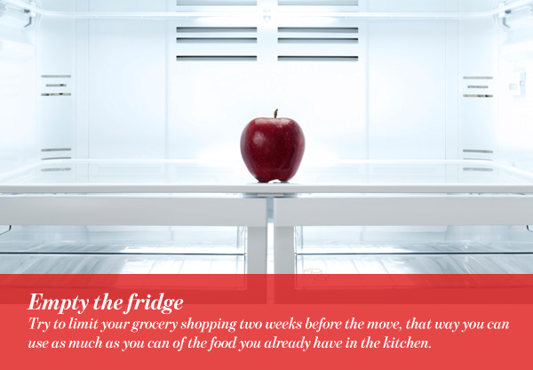 Empty the fridge
