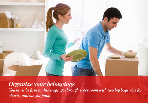 Organize your belongings