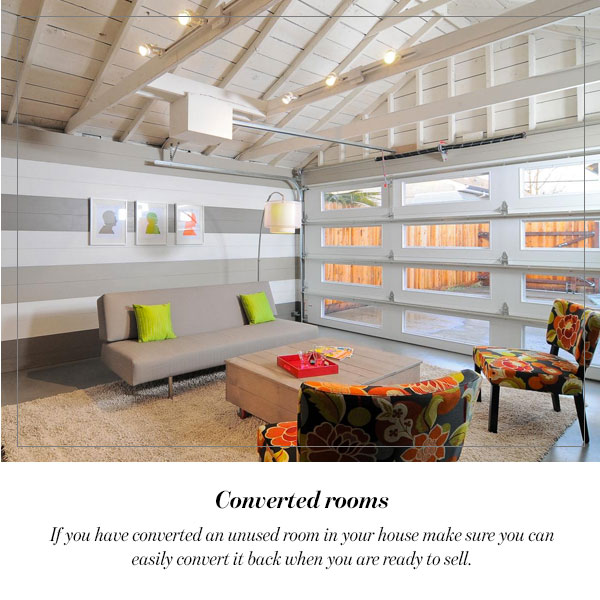 Converted rooms