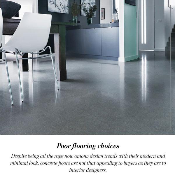 Poor flooring choices