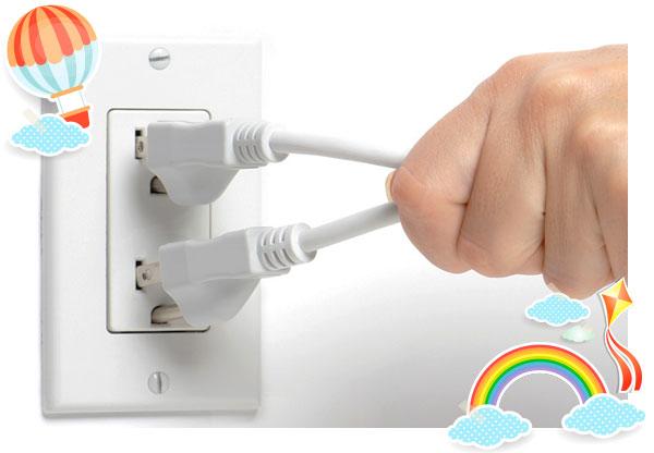 Unplug electrical appliances