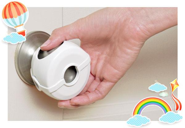 Use door knob covers