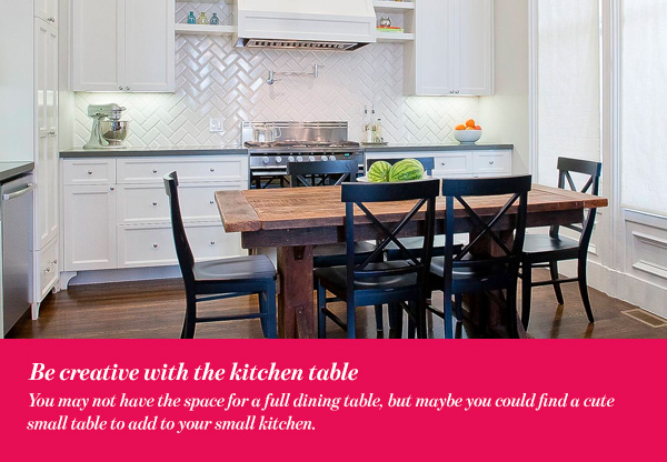 Be creative with the kitchen table
