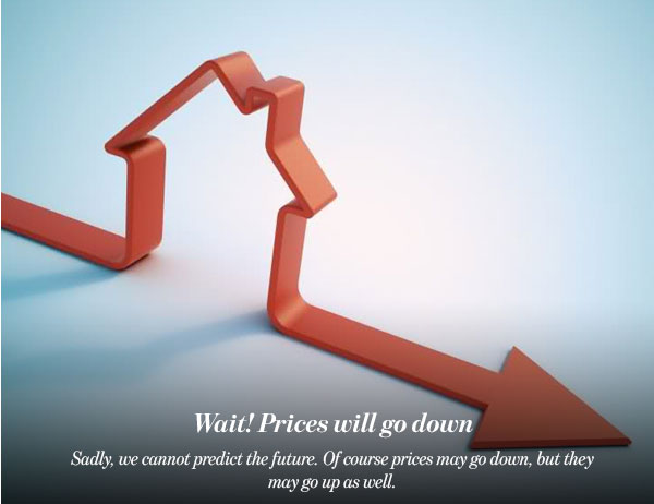 Wait! Prices will go down