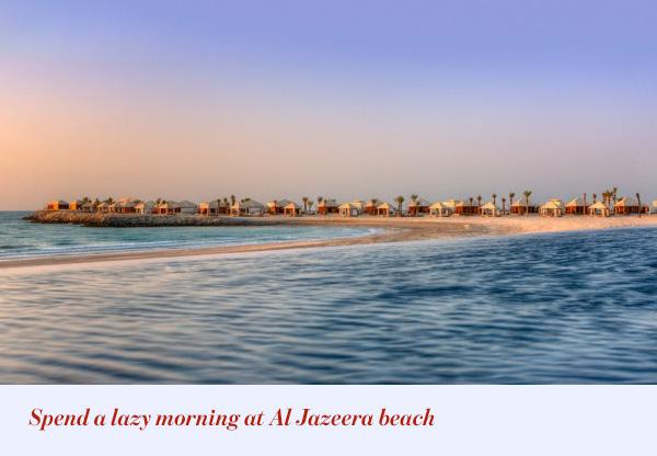 Spend a lazy morning at Al Jazeera beach