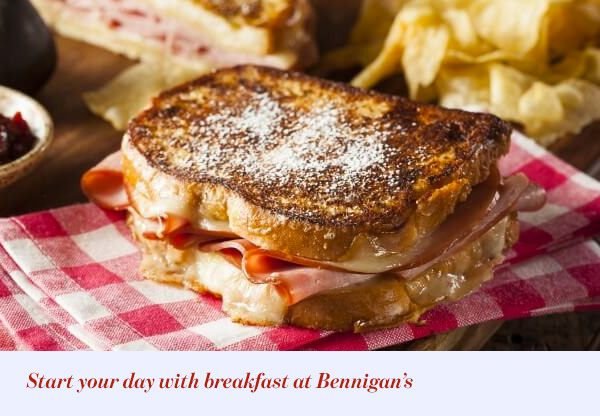 Start your day with breakfast at Bennigan's