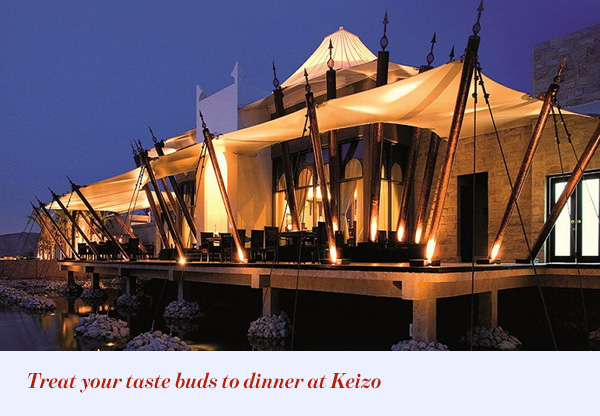 Treat your taste buds to dinner at Keizo