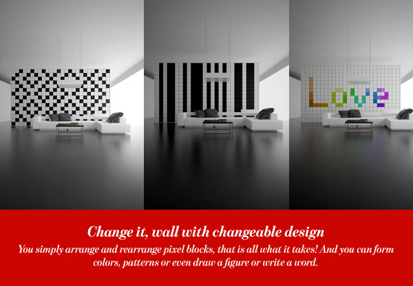 Change it, wall with changeable design