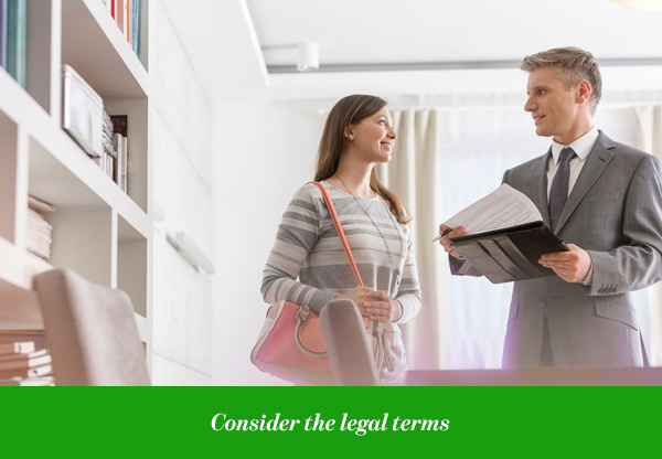 Consider the legal terms