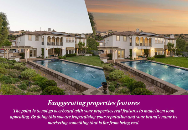 Exaggerating properties features