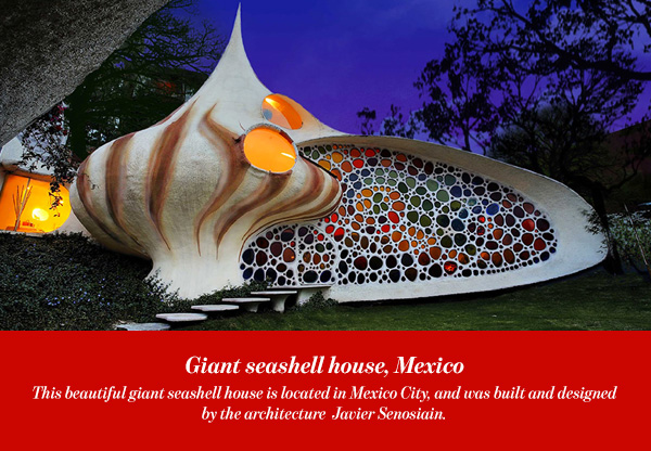 Giant seashell house, Mexico
