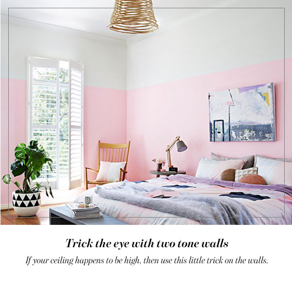 Trick the eye with two tone walls