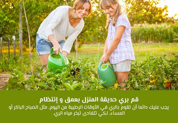 قم بري حديقة المنزل بعمق و إنتظام