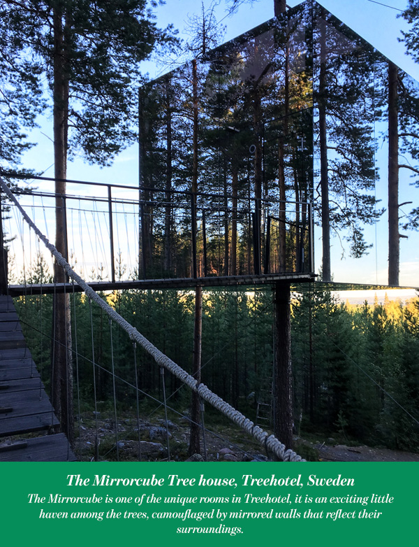 The Mirrorcube Tree house, Treehotel, Sweden