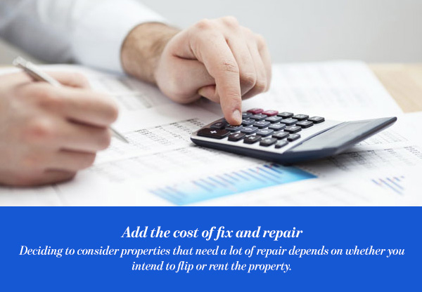 Add the cost of fix and repair