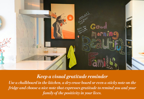 Keep a visual gratitude reminder