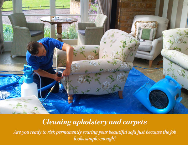 Cleaning upholstery and carpets