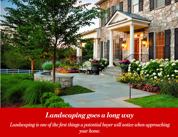 Landscaping goes a long way