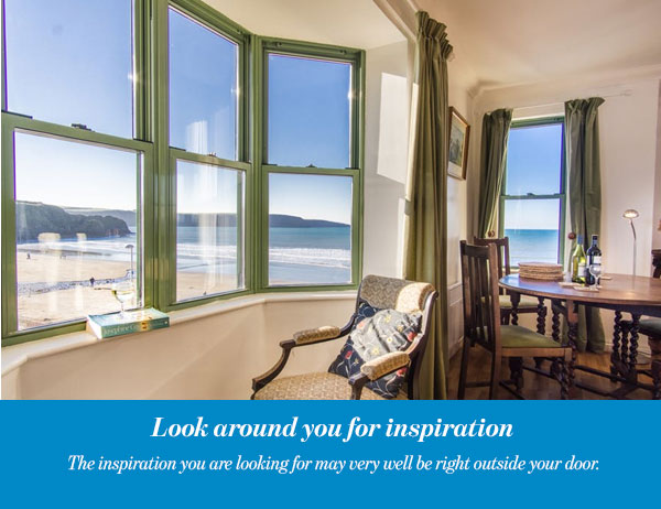 Look around you for inspiration
