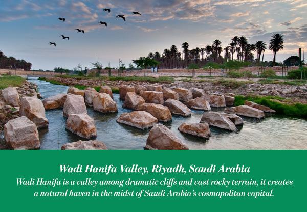 Wadi Hanifa valley, Riyadh, Saudi Arabia