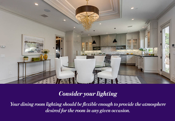 Consider your lighting