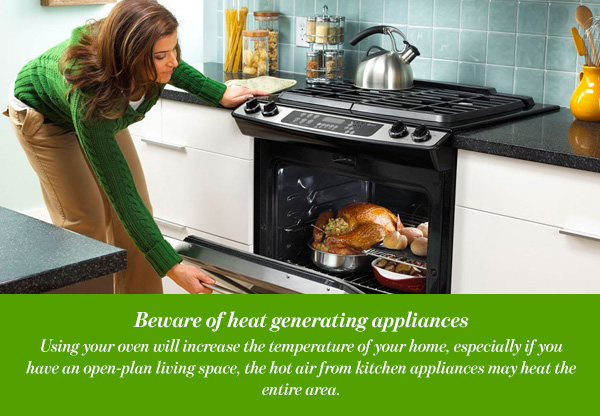 Beware of heat generating appliances