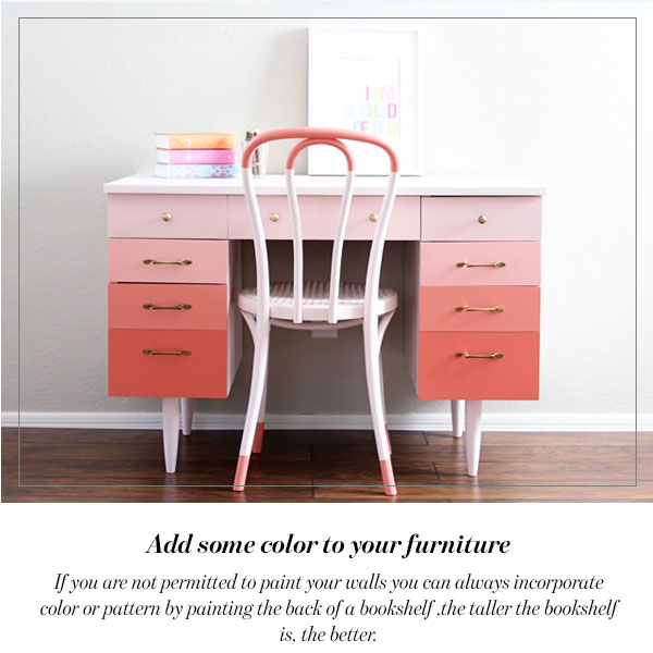 Add some color to your furniture
