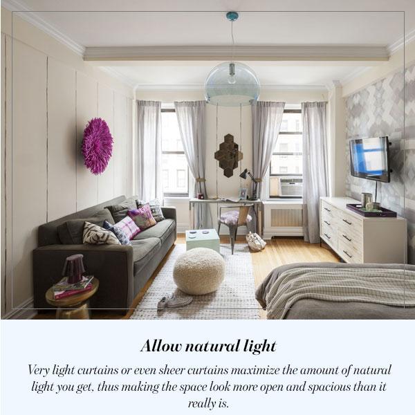 Allow natural light