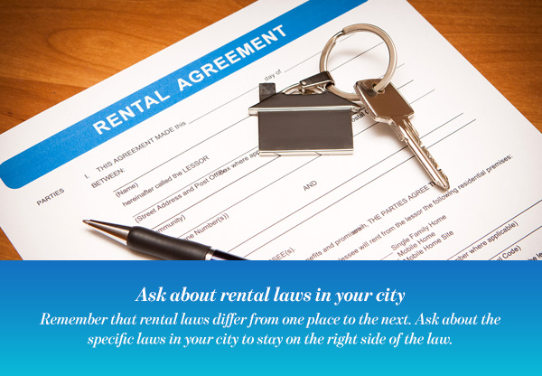 Ask about rental laws in your city