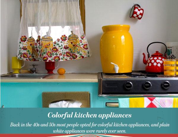 Colorful kitchen appliances