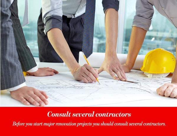 Consult several contractors