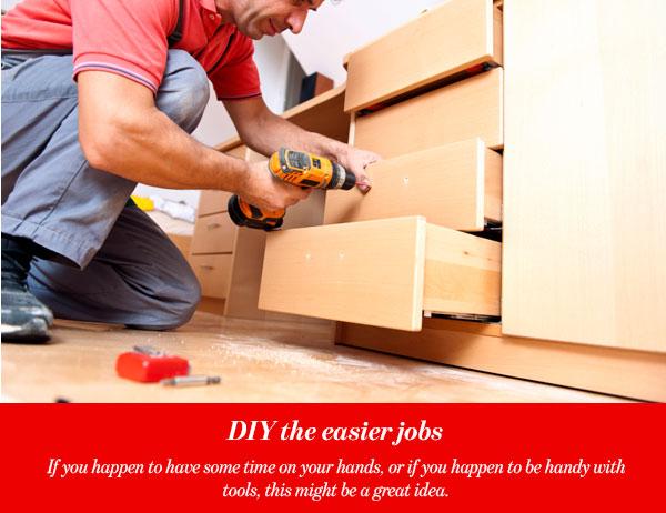 DIY the easier jobs