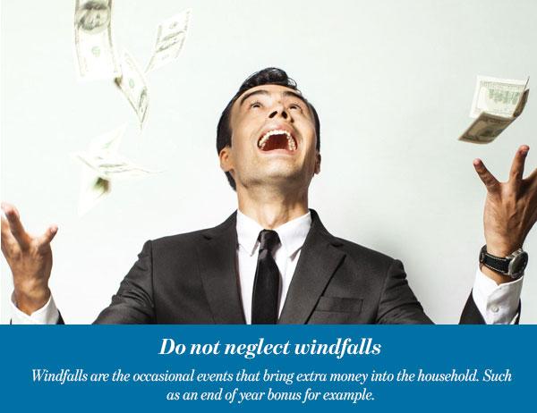 Do not neglect windfalls