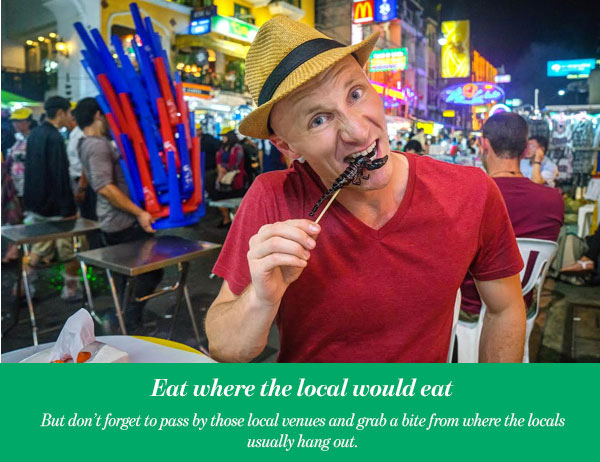 Eat where the local would eat