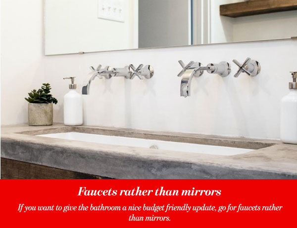 Faucets rather than mirrors