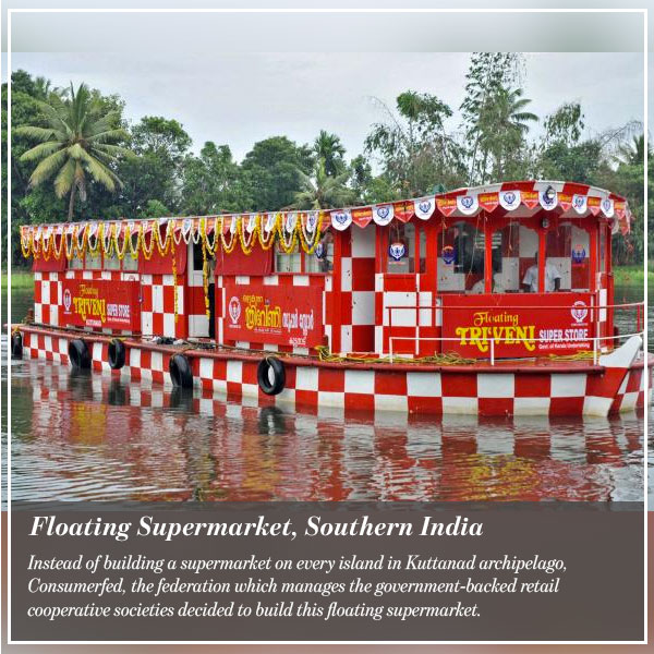 Floating Supermarket, Southern India