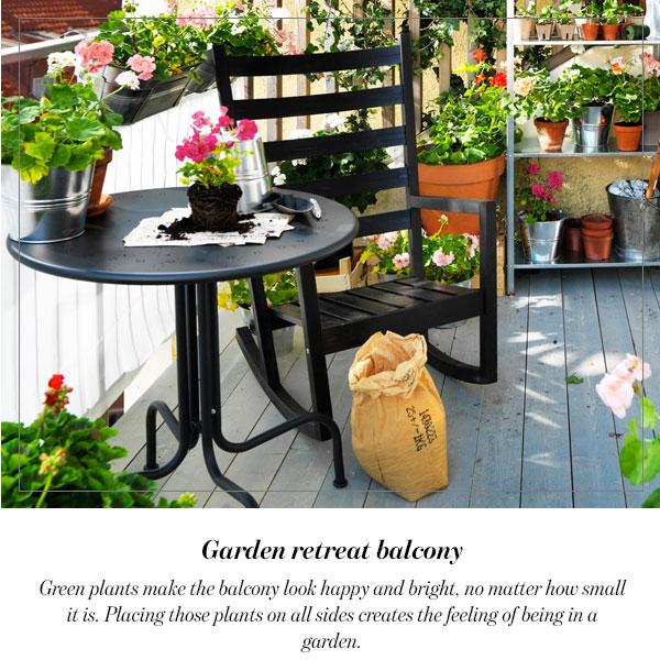 Garden retreat balcony