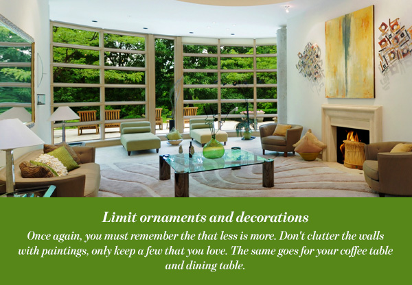 Limit ornaments and decorations