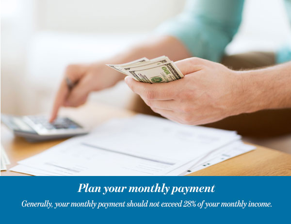 Plan your monthly payment