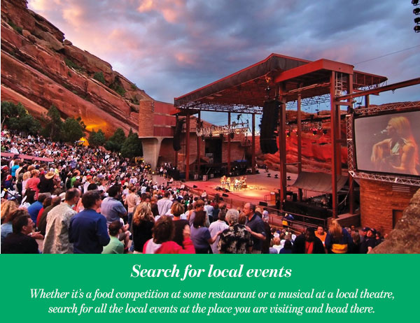 Search for local events